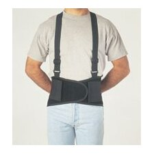 "Black Economy Belt 8"" Back Support W/Suspenders Size Small 26"" To 32"""