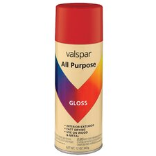 12 Oz Red All Purpose Spray Paint Gloss