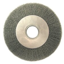 "<strong>Anderson Brush</strong> Medium Face Crimped Wire Wheels-DA Series - da7 7"" .014 crimped wirewheel brush w/2""dia. ar"