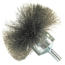 "Circular Flared End Brushes-NF Series - nf40 4"" .008 carbon circular flared end brush"