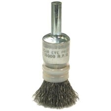 Crimped Wire End Brushes-NSNT Series-Coated Cup-Variable Trim - nsnt4 solid crimp vari-trim coated cup end brush