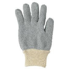 MultiKnit™ Terry Mediumweight Gloves - 222199 9 gray poly/cotton loop-out medwght