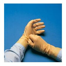 "8 Technicians™ Light Duty Natural Unsupported 13 Mil Neoprene/Natural Latex Unlined 12"" Glove With Pebble Embossed Grip & Pinked Cuff"