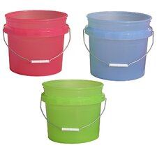 3.5 Gallon Plastic Translucent Pails 31448-200534