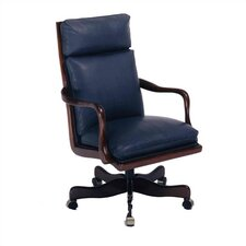 Large Contoured High-Back Leather Executive Chair