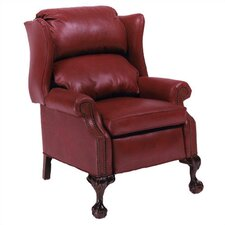 Ball in Claw Leather Wing Recliner