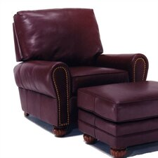 Lenox Leather Chair and Ottoman