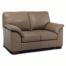 Regis Leather Loveseat