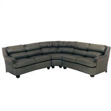 Cushion Back Pub Leather Sectional