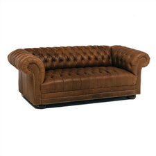 Tufted Chesterfield Leather Sofa