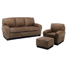 Kensington Leather Sofa and Chair Set