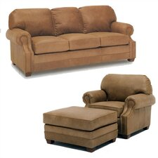 Sumner Leather Sofa and Chair Set