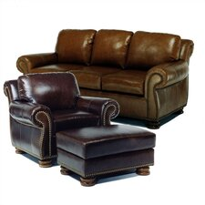 Hilton Leather Sofa and Chair Set