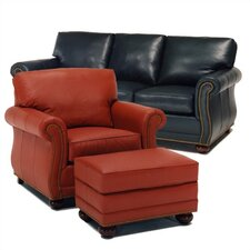 Manchester Leather Sofa and Chair Set