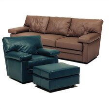 Manhattan Leather Sofa and Chair Set