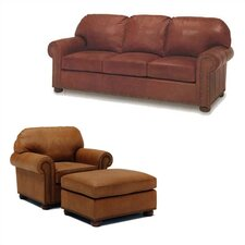 Huntington Leather Sleeper Sofa and Chair Set