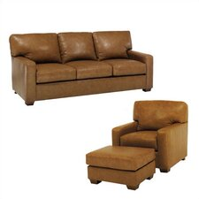Maison Leather Sleeper Sofa and Chair Set