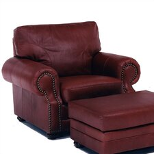 Chelshire Leather Chair and Ottoman