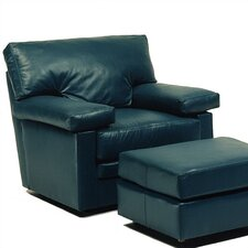 Manhattan Leather Chair and Ottoman