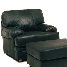 Dakota Leather Chair and Ottoman