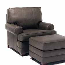 Bridgeport Leather Chair and Ottoman