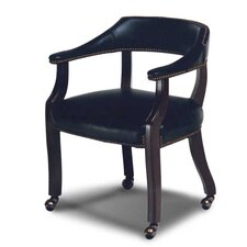 Banker's Mid-Back Leather Executive Chair with Casters