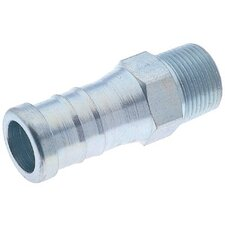Male Hose Nipples - 3/4x3/4 plated car-steelhose nple