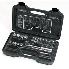 "20 Piece Deep & Standard Socket Sets - 20 piece 3/8"" drive socket set 12 point deep& st"