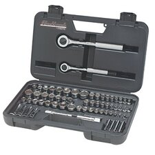 64 Piece Standard & Metric Socket Sets - set skt 64pc master tool