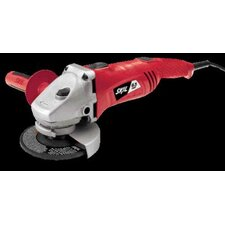 "6.5 Amp, 11000 RPM 4 1/2"" Angle Grinder With Metal Front End, Rat-Tail Grip And Dual Power Switches"