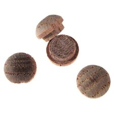 "12 Count 3/8"" Oak Wooden Buttonhead Plugs 8400.38 OAK DP"