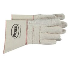 Gauntlet Cuff Hot Mill Gloves - heavy weight hot mill glove w/gauntlet