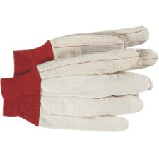 Cotton Gloves - cord double palm knit wrist nap in glove