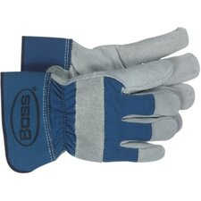 Split Leather Palm Gloves - leather palm glove rubberized safety cuff
