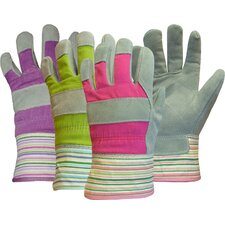 Ladies Split Palm Leather Gloves