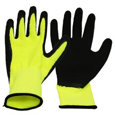 Ladies Neon Knit Work Gloves