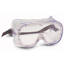Softsides® Direct Vent Goggles With Green Perforated Frame And Clear Lens