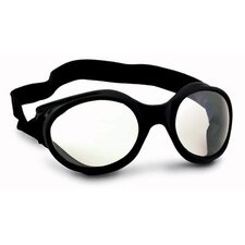UFO Galaxis Direct Vent Goggles With Silver Frame, Clear Lens And Foam Liner