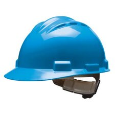 Series Blue Vented Safety Cap With 4 Point Ratchet Headgear And Cotton Browpad