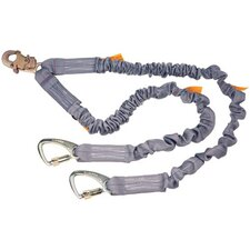 Stretchable ShockWave™2 Twin Leg Lanyard With 5000 Tie Back Carabiners