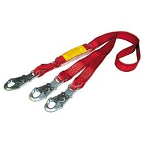"X 1 3/4"" Polyester Web Shock Absorbing Lanyard With Y And 3 AJ520A Hooks"