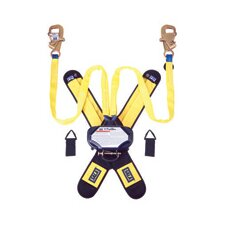 "1 Tie-Off Self Retracting Lifeline With 2 Steel Swiveling Self-Locking Snap Hooks, 1/4"" Gate Opening, Delta Comfort Pad And 2 Lanyard Keepers"