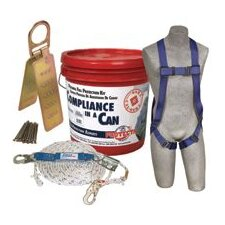 FIRST™ Compliance In A Can® (Contains 50' Vertical Lifeline, Full Body Harness, Rope Grab, And Reusable Roof Anchor Bracket)