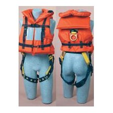 Off-Shore Lifejacket For Use With Harness With Safety Whistle 62Sq Inches Reflective Tape And Foam Filled Head Support Collar
