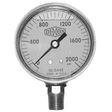 Brass Liquid Filled Gauges - 2 1/2 brss cb 0-200psi l