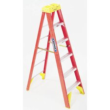 8' Fiberglass Twin Step Ladder T6208