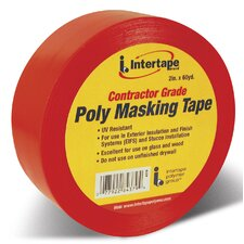 Red Contractor Grade Poly Masking Tape 4379 RED