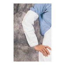 White Tyvek® Sleeve With Serged Seams And Elastic Top And Wrist