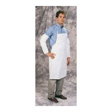 "Size Fits All ProShield® NexGen™ White Apron 44"" Long Bib-Style"