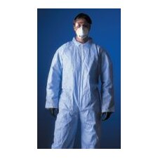 Large ProShield® 1 Blue Disposable Coverall With Elastic Back, Wrists And Ankles